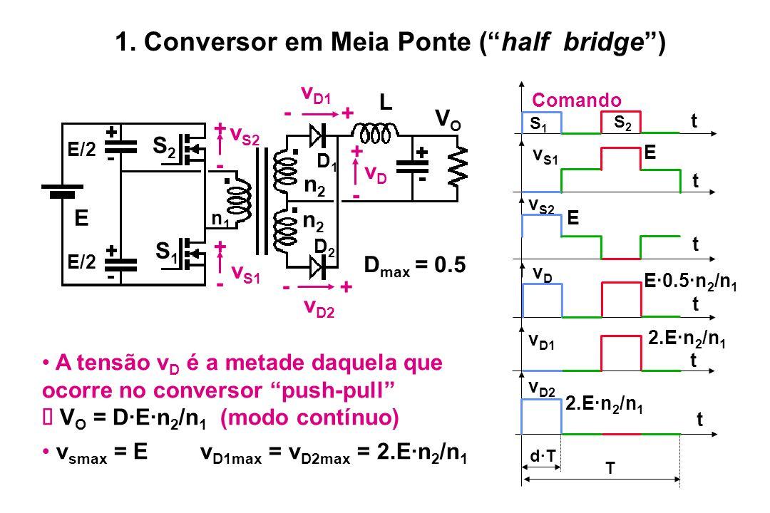 1. Conversor em Meia Ponte ( half bridge )