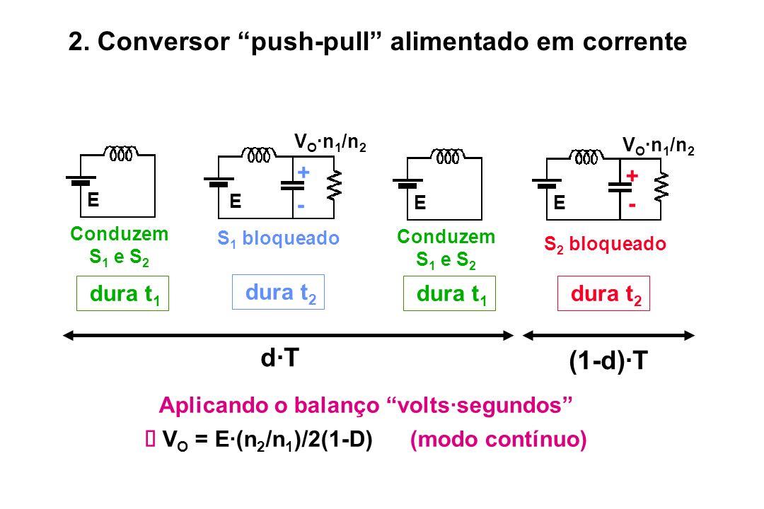 2. Conversor push-pull alimentado em corrente