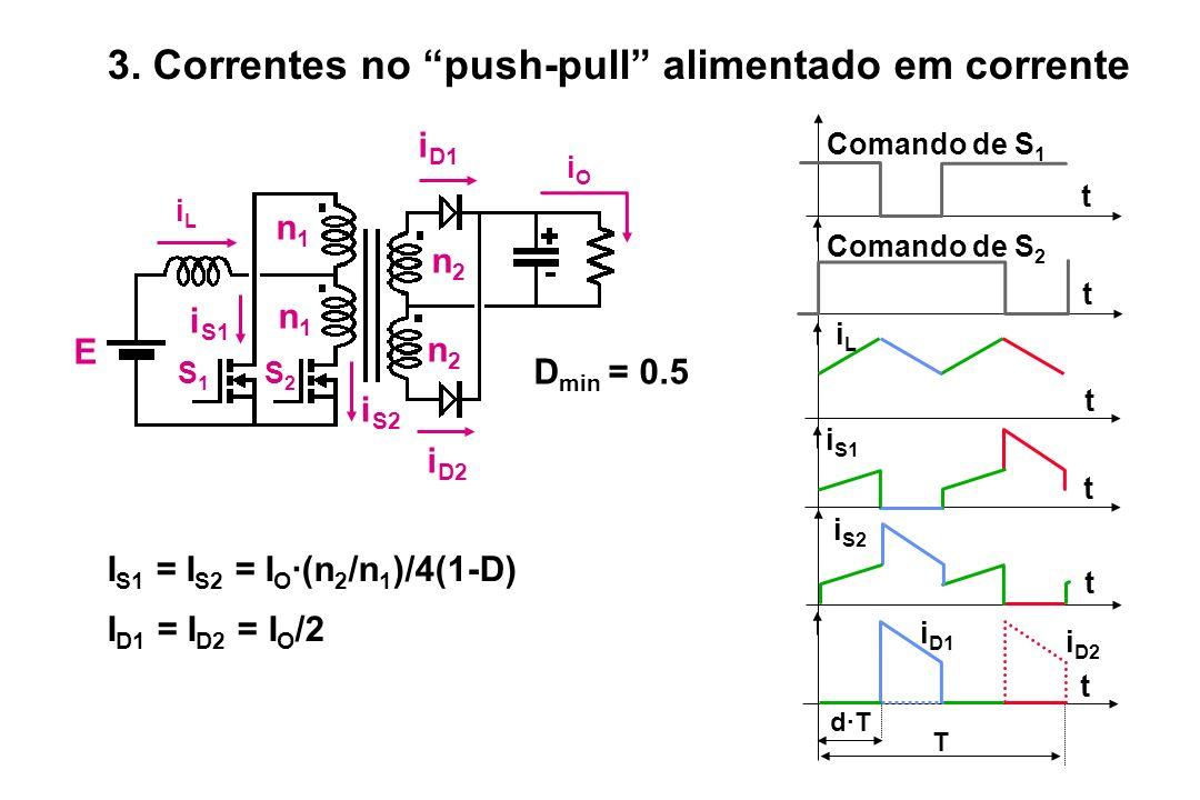 3. Correntes no push-pull alimentado em corrente