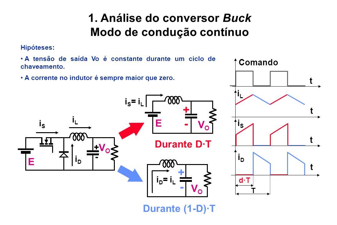 1. Análise do conversor Buck Modo de condução contínuo