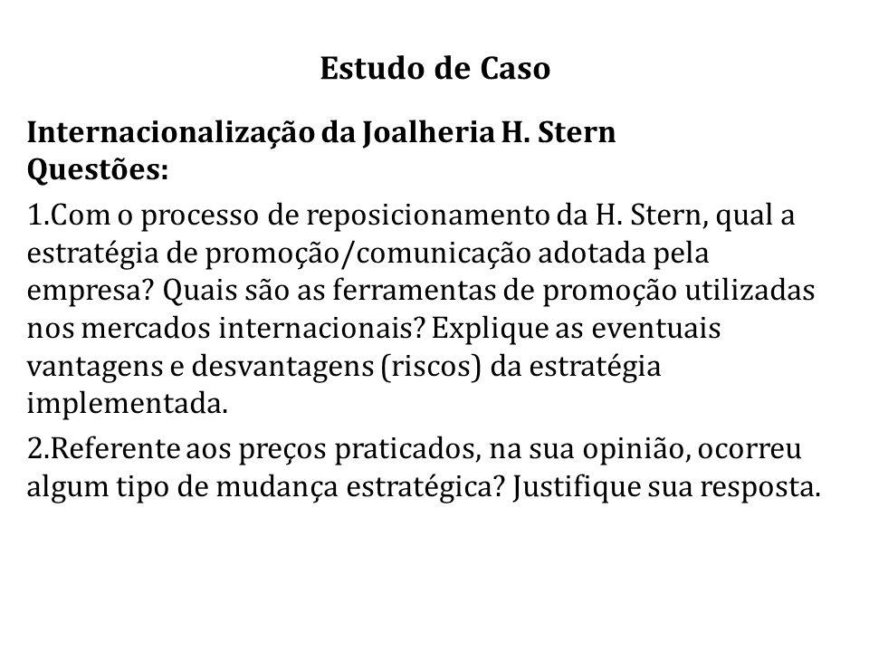 Estudo de Caso Internacionalização da Joalheria H. Stern Questões: