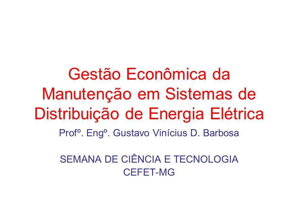 Gestão Econômica da Manutenção em Sistemas de Distribuição de Energia Elétrica