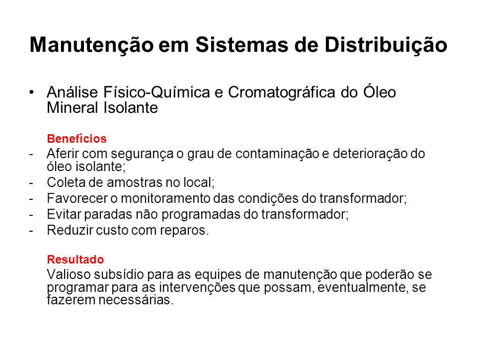 Manutenção em Sistemas de Distribuição