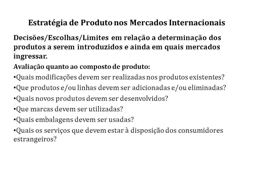 Estratégia de Produto nos Mercados Internacionais