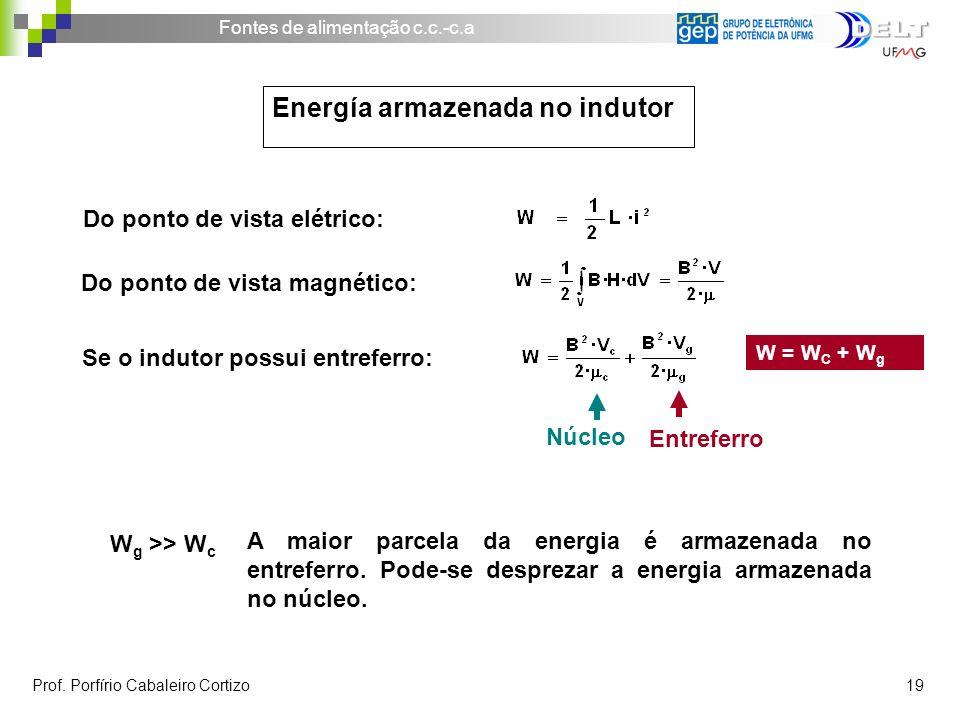Energía armazenada no indutor