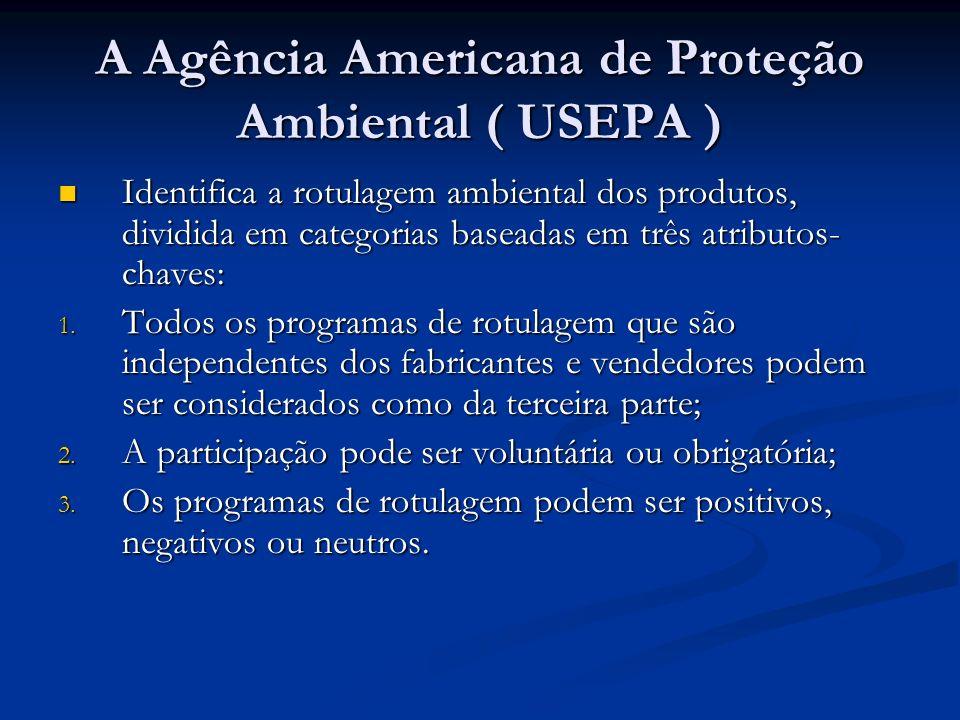 A Agência Americana de Proteção Ambiental ( USEPA )