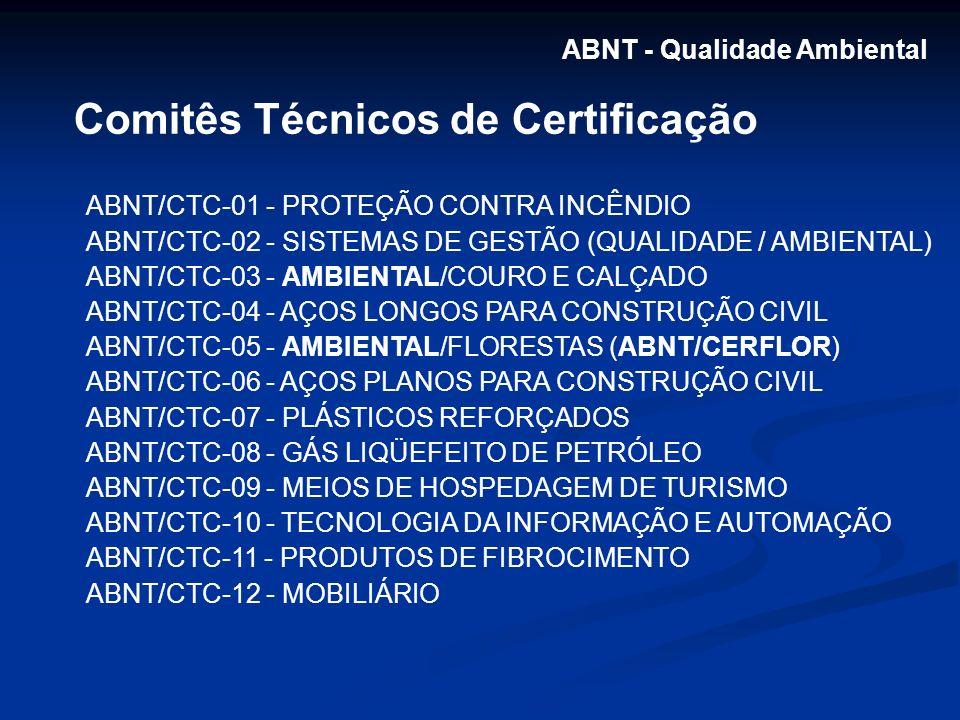 Comitês Técnicos de Certificação