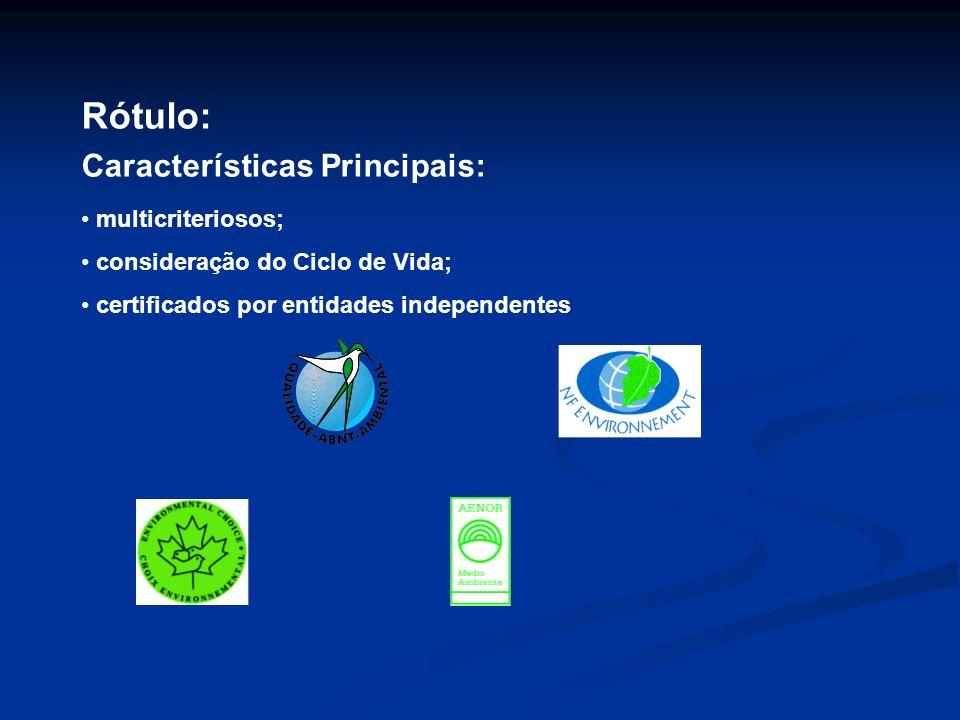Rótulo: Características Principais: multicriteriosos;