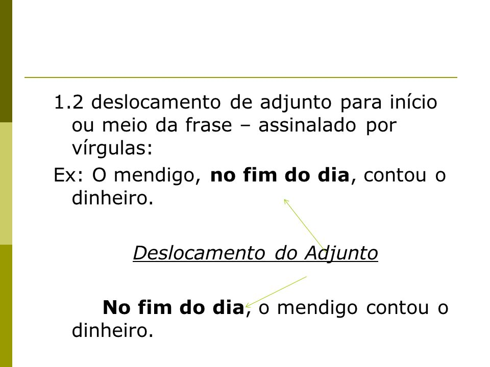Deslocamento do Adjunto