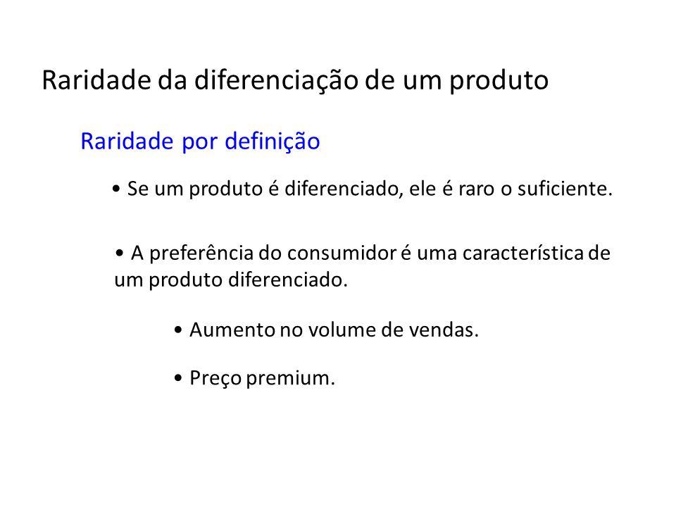 Raridade da diferenciação de um produto