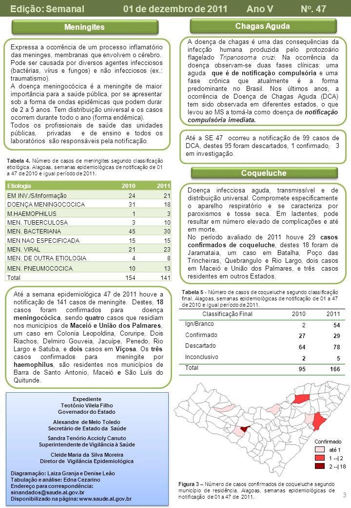 Edição: Semanal 01 de dezembro de 2011 Ano V No. 47