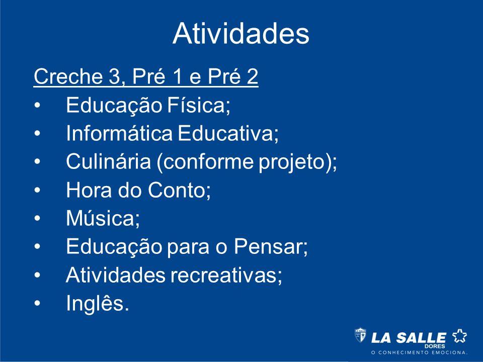 Atividades Creche 3, Pré 1 e Pré 2 Educação Física;