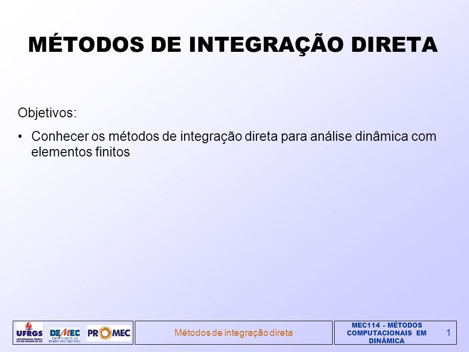 MÉTODOS DE INTEGRAÇÃO DIRETA