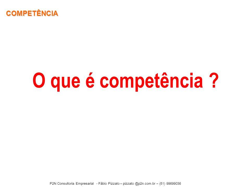 COMPETÊNCIA O que é competência