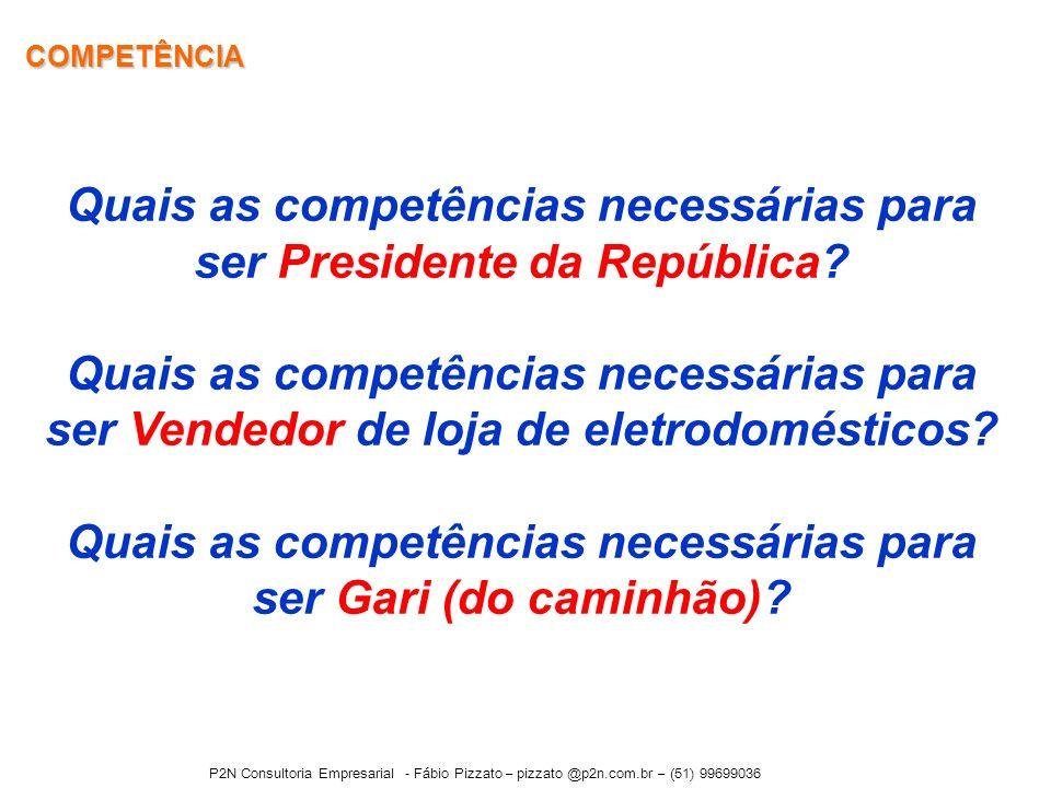 Quais as competências necessárias para ser Presidente da República