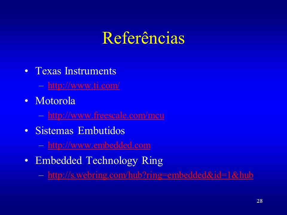 Referências Texas Instruments Motorola Sistemas Embutidos