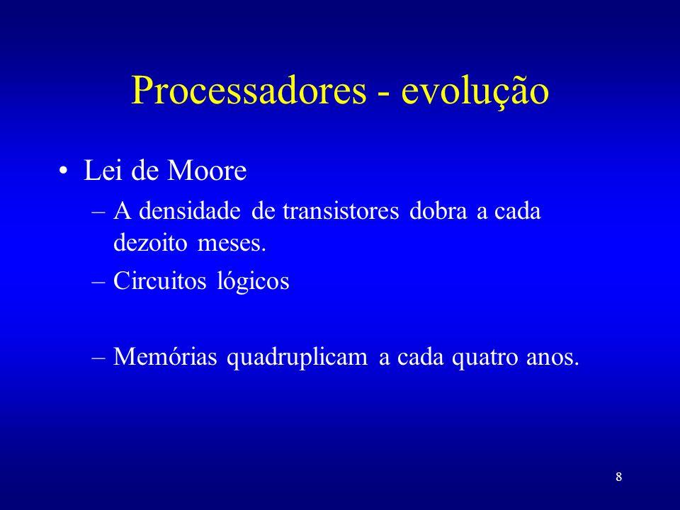 Processadores - evolução