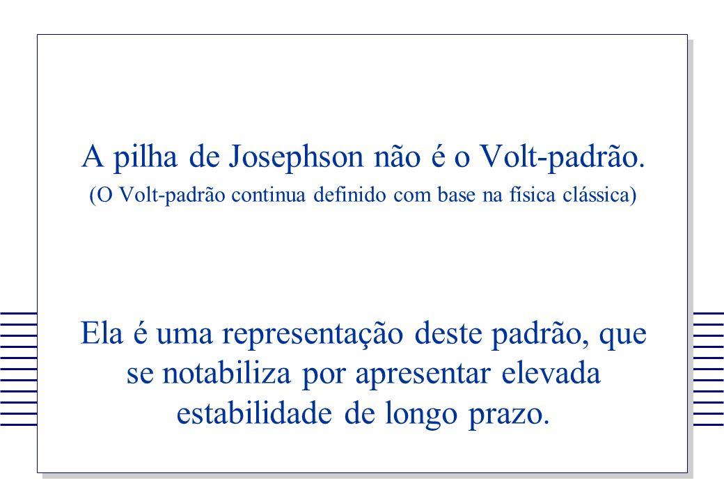 A pilha de Josephson não é o Volt-padrão.