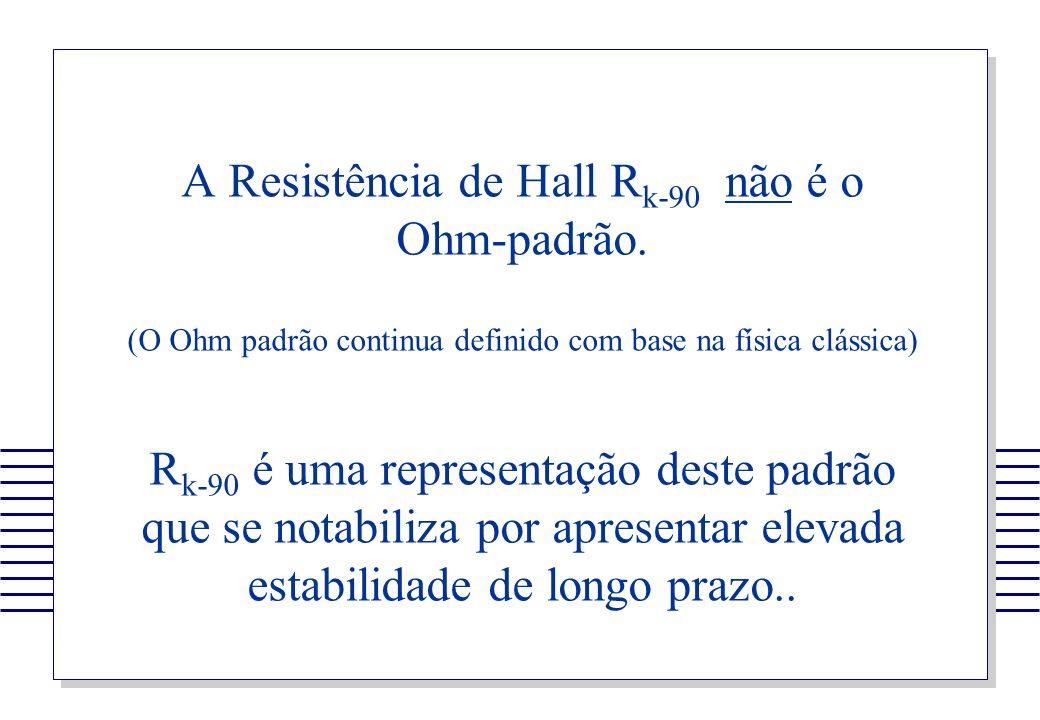 A Resistência de Hall Rk-90 não é o Ohm-padrão.