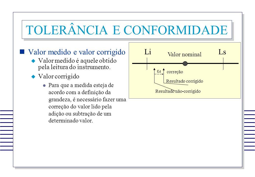 TOLERÂNCIA E CONFORMIDADE