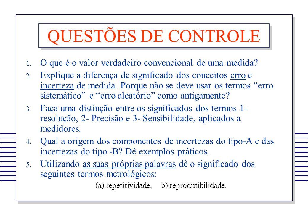 (a) repetitividade, b) reprodutibilidade.