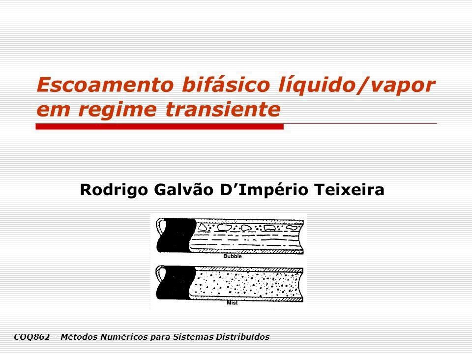 Escoamento bifásico líquido/vapor em regime transiente