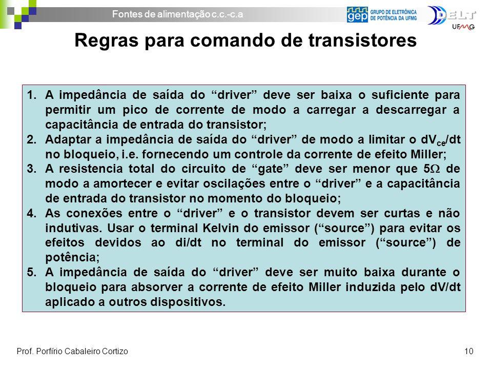 Regras para comando de transistores