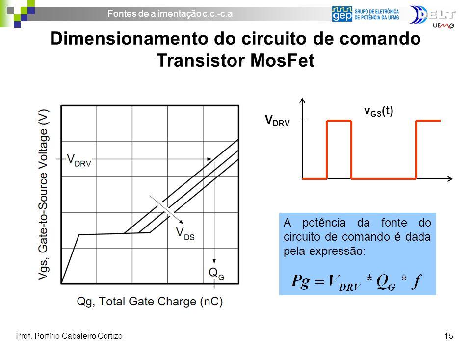 Dimensionamento do circuito de comando