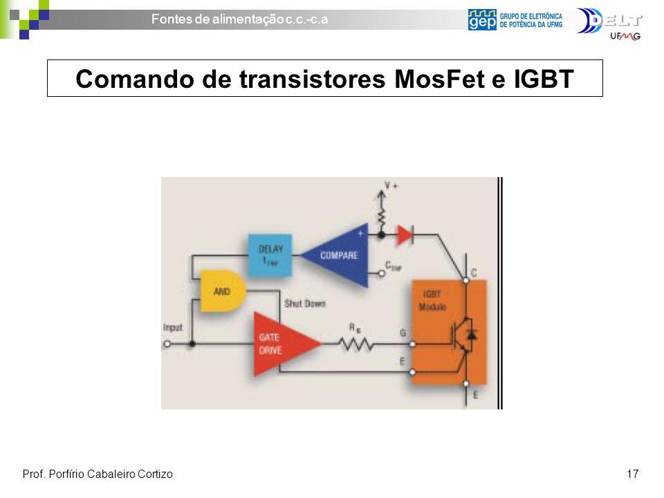Comando de transistores MosFet e IGBT