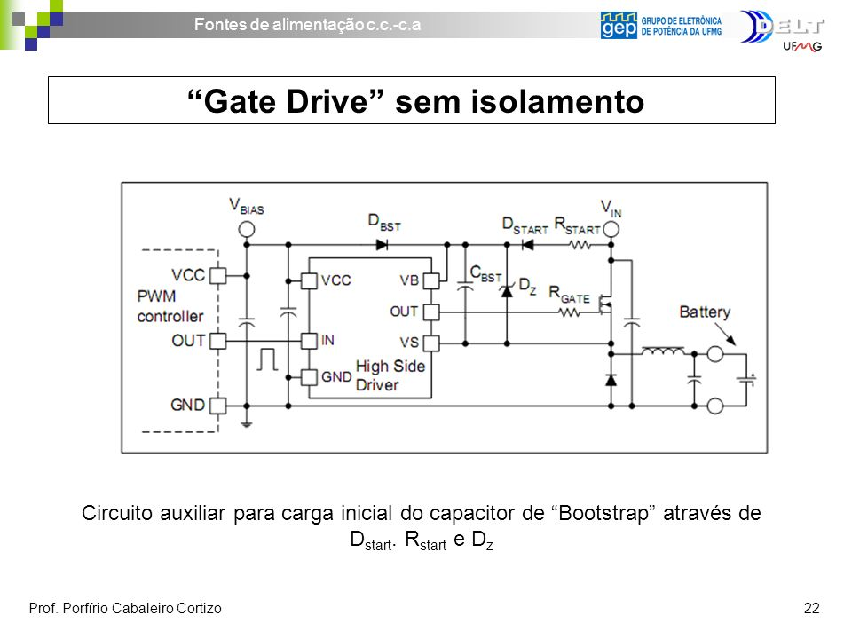 Gate Drive sem isolamento