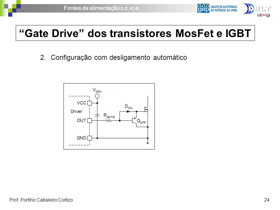 Gate Drive dos transistores MosFet e IGBT