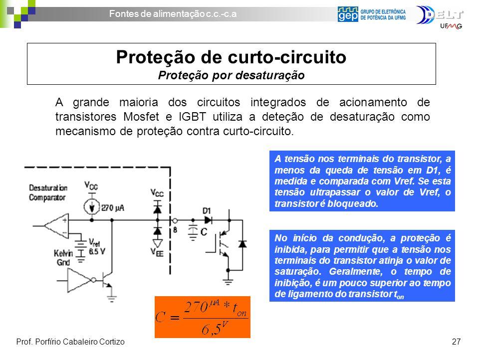 Proteção de curto-circuito Proteção por desaturação