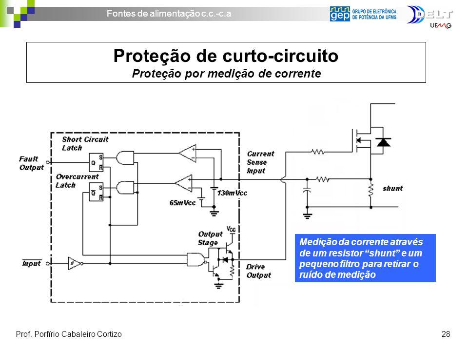 Proteção de curto-circuito Proteção por medição de corrente