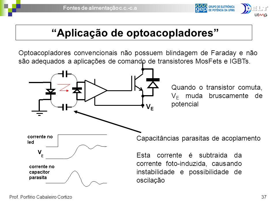 Aplicação de optoacopladores