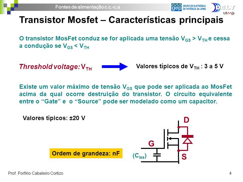 Transistor Mosfet – Características principais