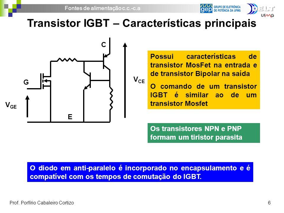 Transistor IGBT – Características principais