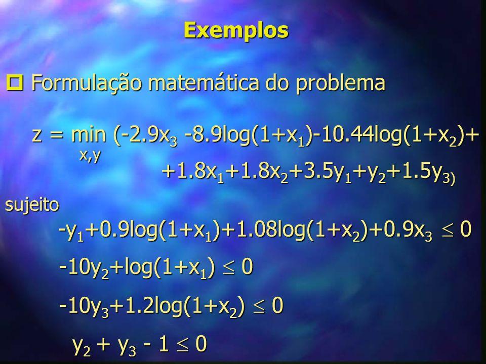  Formulação matemática do problema