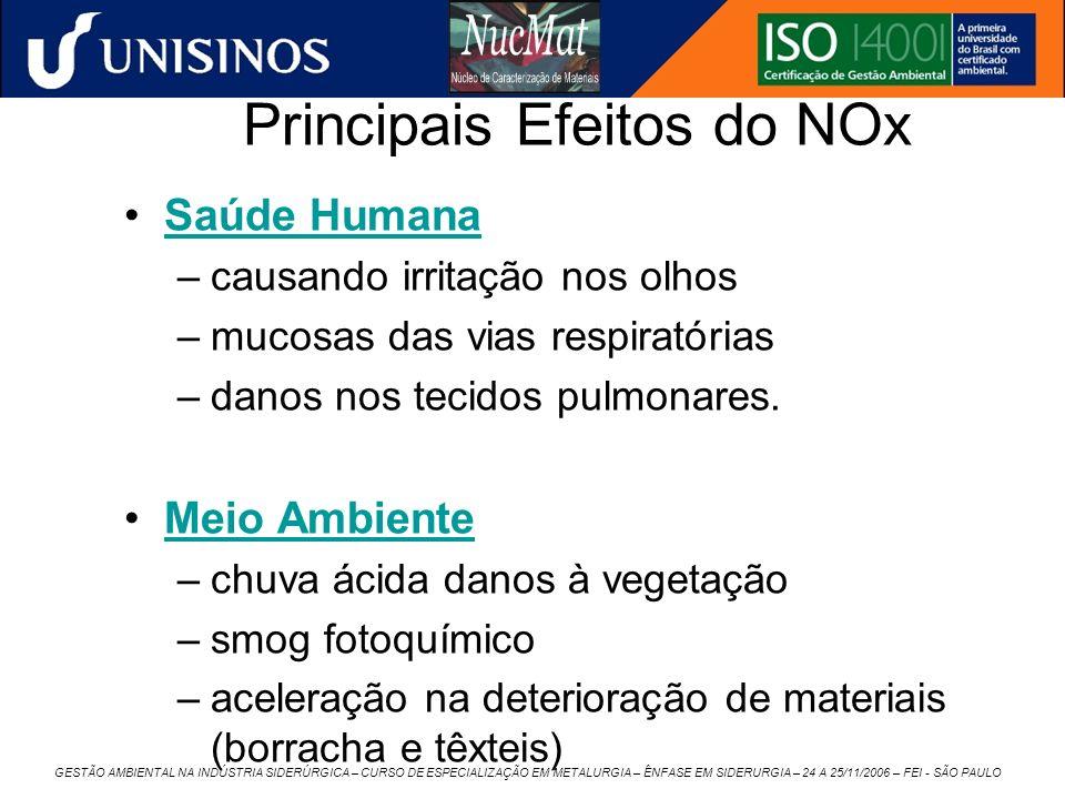 Principais Efeitos do NOx