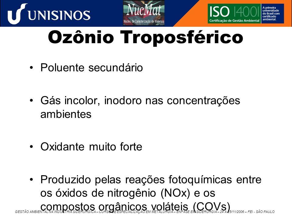 Ozônio Troposférico Poluente secundário
