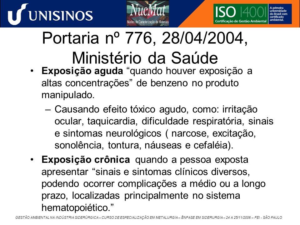 Portaria nº 776, 28/04/2004, Ministério da Saúde