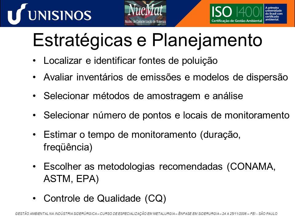 Estratégicas e Planejamento