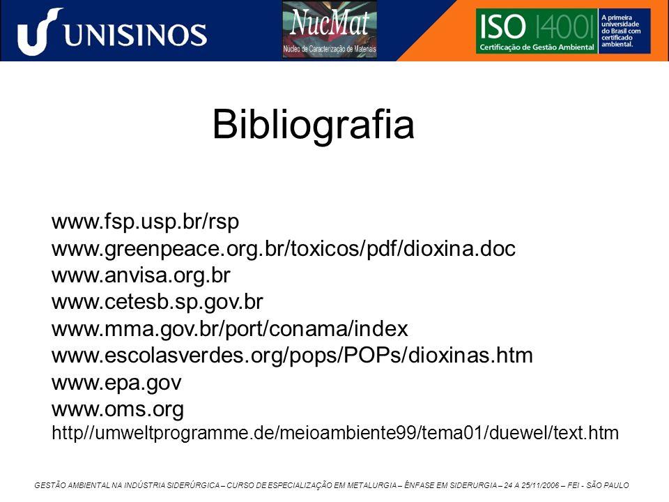 Bibliografia www.fsp.usp.br/rsp