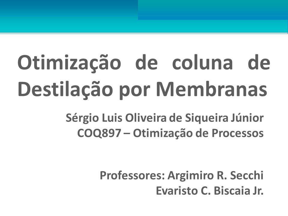 Otimização de coluna de Destilação por Membranas