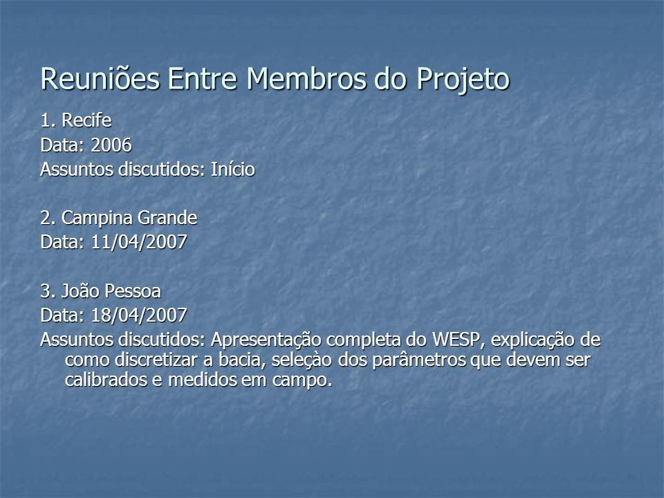 Reuniões Entre Membros do Projeto