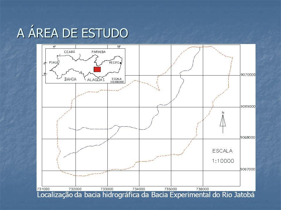 A ÁREA DE ESTUDO Localização da bacia hidrográfica da Bacia Experimental do Rio Jatobá