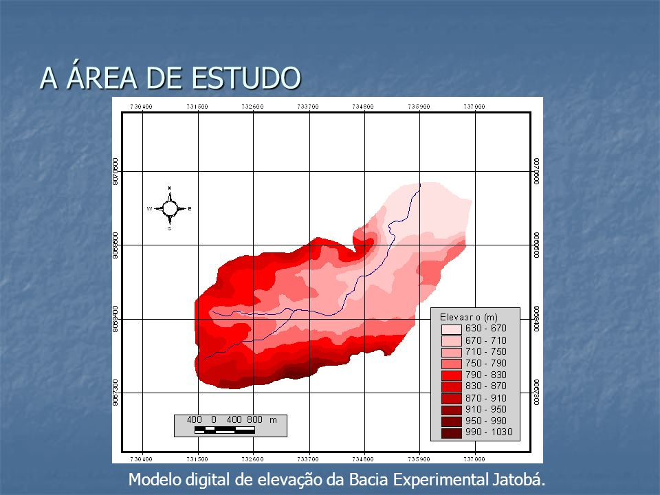 Modelo digital de elevação da Bacia Experimental Jatobá.