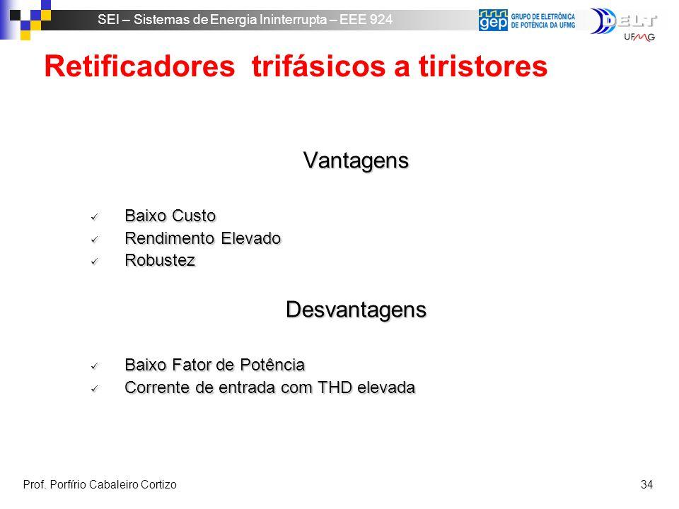 Retificadores trifásicos a tiristores