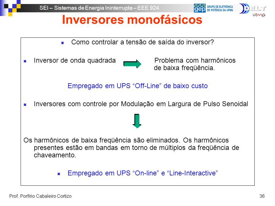 Inversores monofásicos