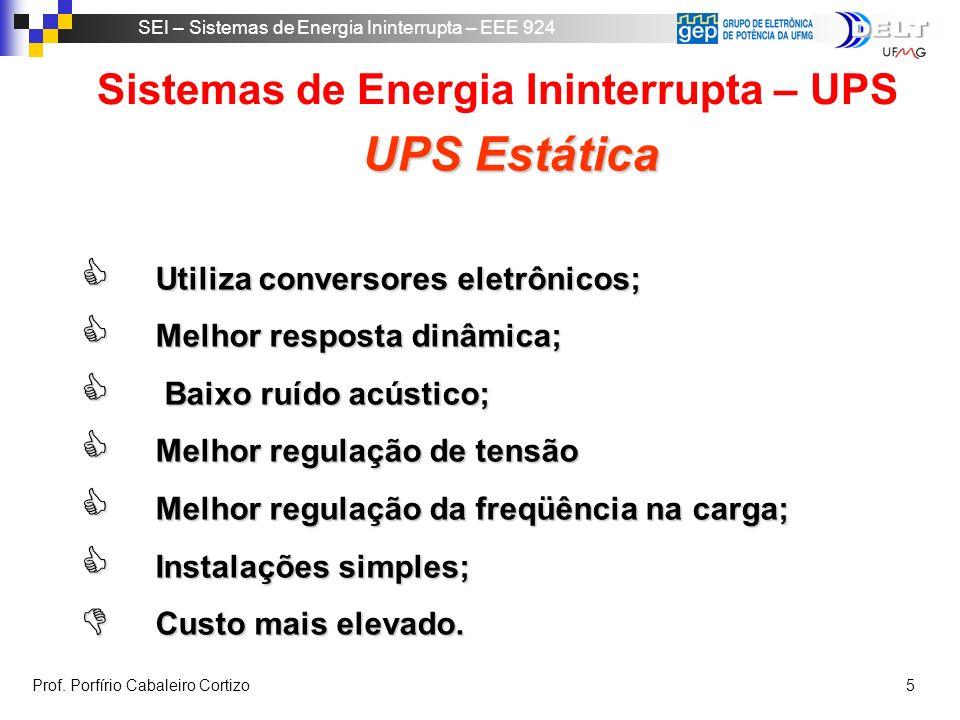 Sistemas de Energia Ininterrupta – UPS