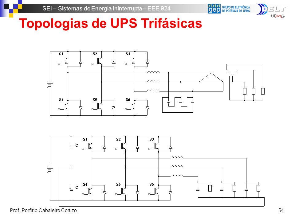 Topologias de UPS Trifásicas